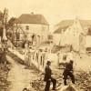 <!--:da-->Kik ned ad Bjerggades østlige del, 1864.<!--:--> <!--:de-->Blick hinunter in den östlichen Teil der Bjerggade Teil 1864.<!--:--> <!--:en-->A view down towards the eastern end of Bjerggade, 1864.<!--:-->