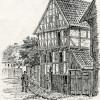 Brogade nr. 6 fra J.P. Traps beskrivelse af Sønderborg, 1862.
