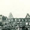 Sønderborgs udbrændte rådhus set fra vest, 1864.