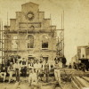 Rådhuset under genopbygning, 1865.